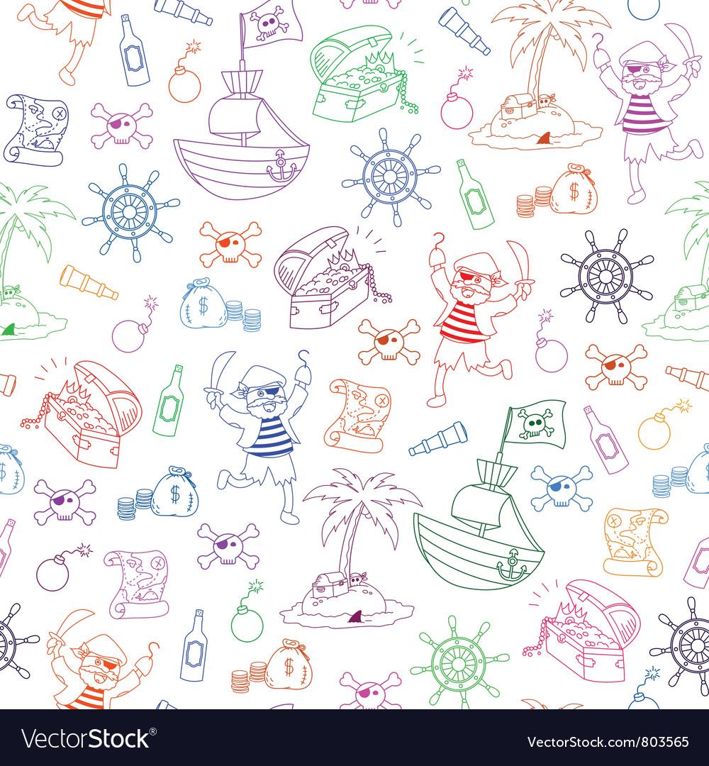 Pirates pattern vector