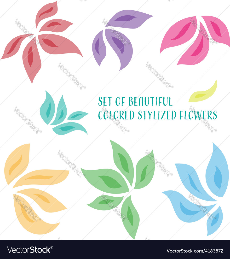 Stylized flowers vector