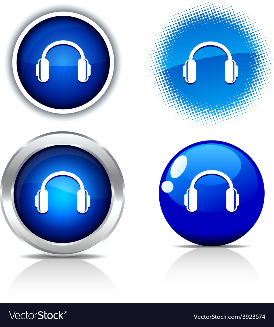 Headphones buttons vector