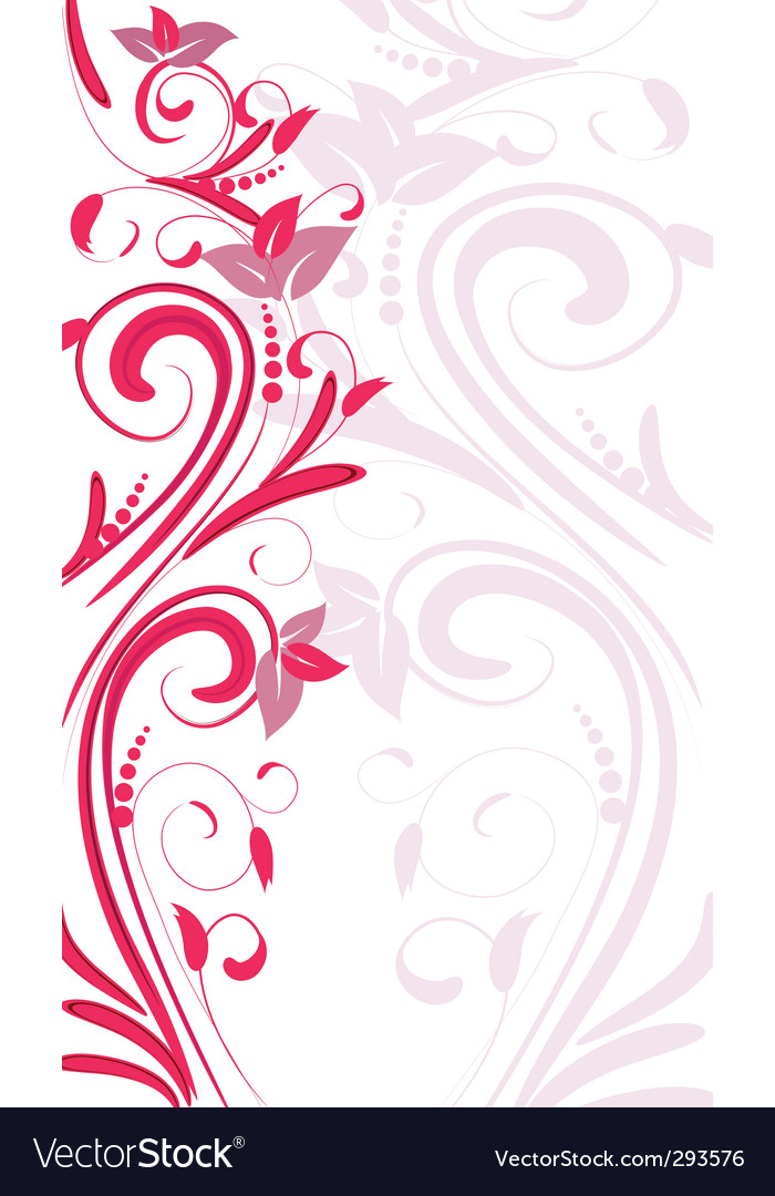 Ornament vertical vector
