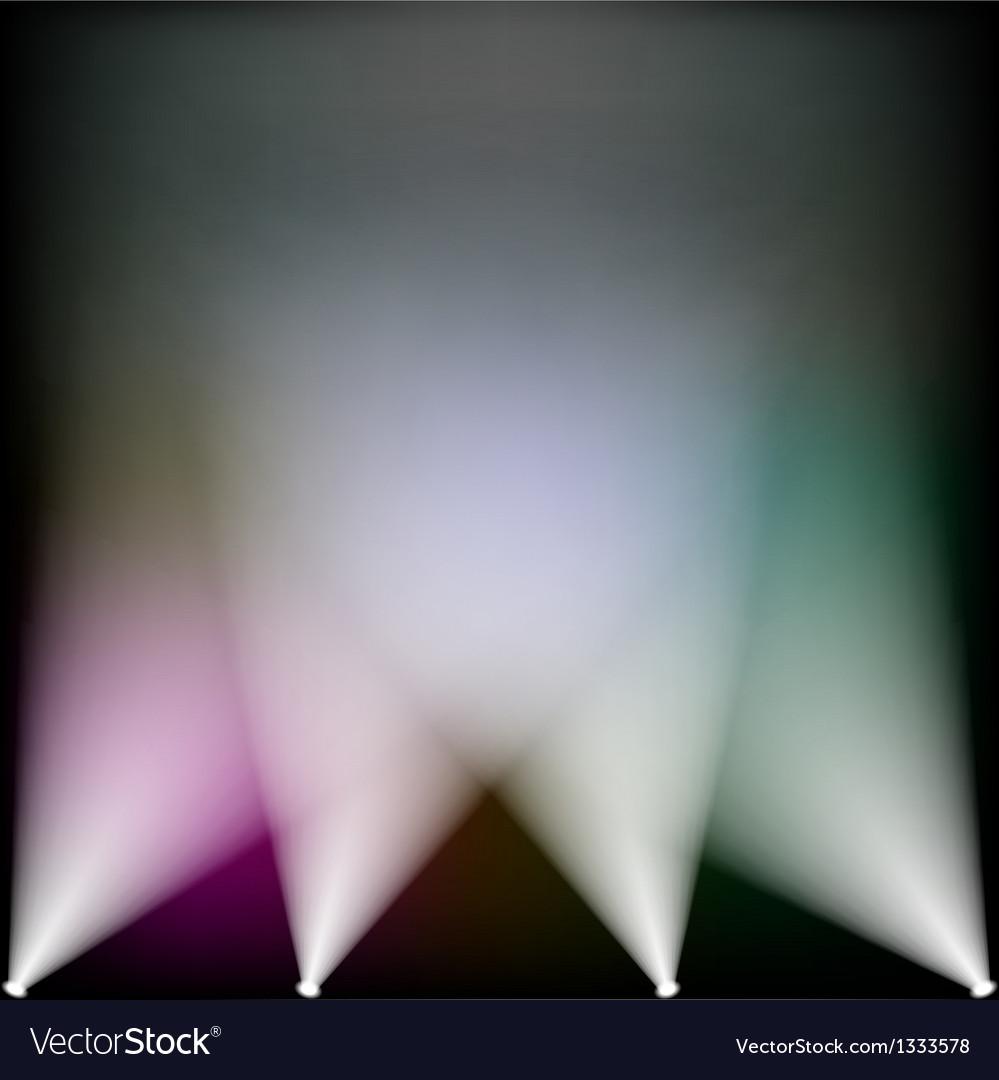 Colorful spotlights vector