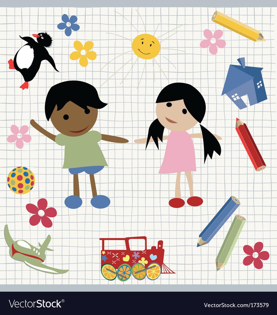 Childlike design vector