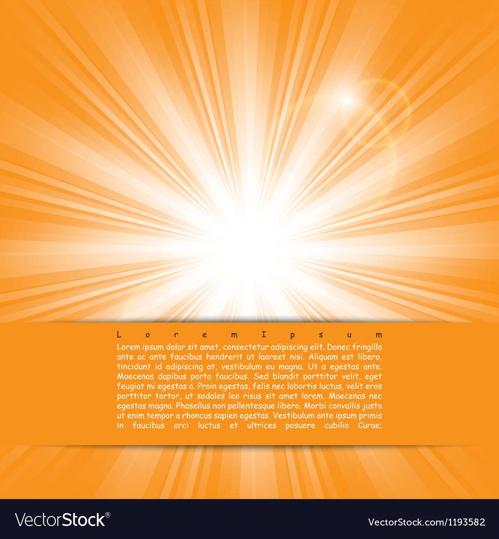 Bright sunlight vector