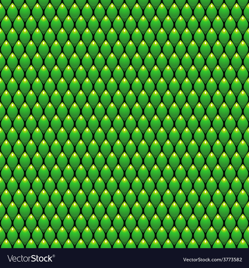 Green scales seamless pattern texture stock vector