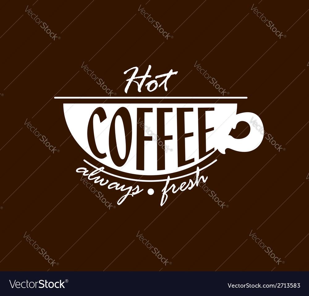 Hot coffee banner vector