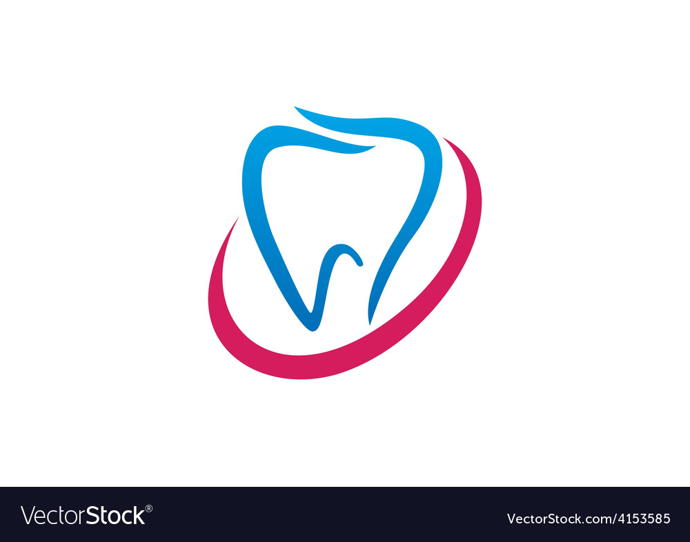 Teeth medical abstract logo vector