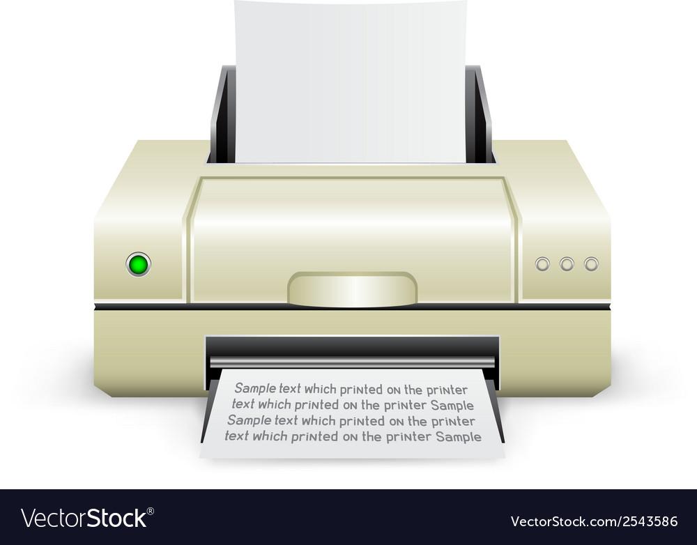 White printer icon vector