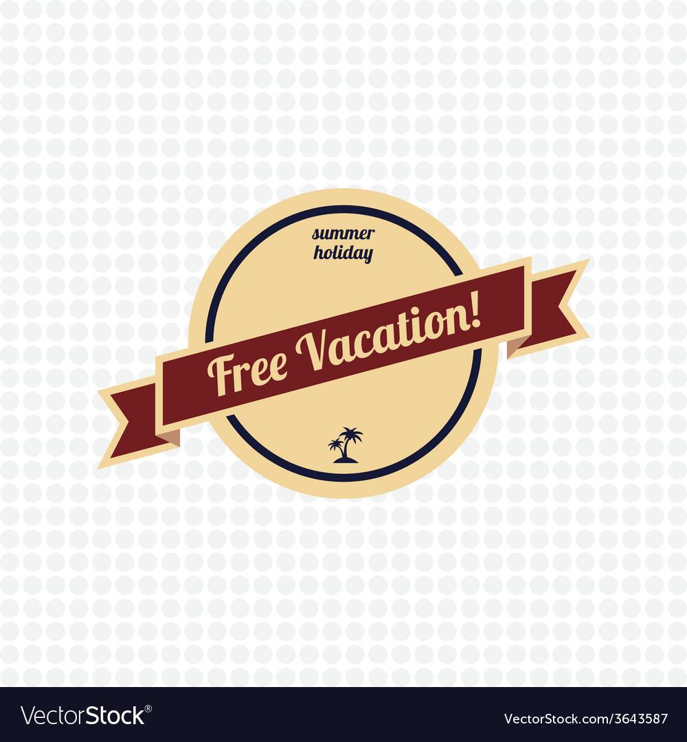 Free vacation label vector