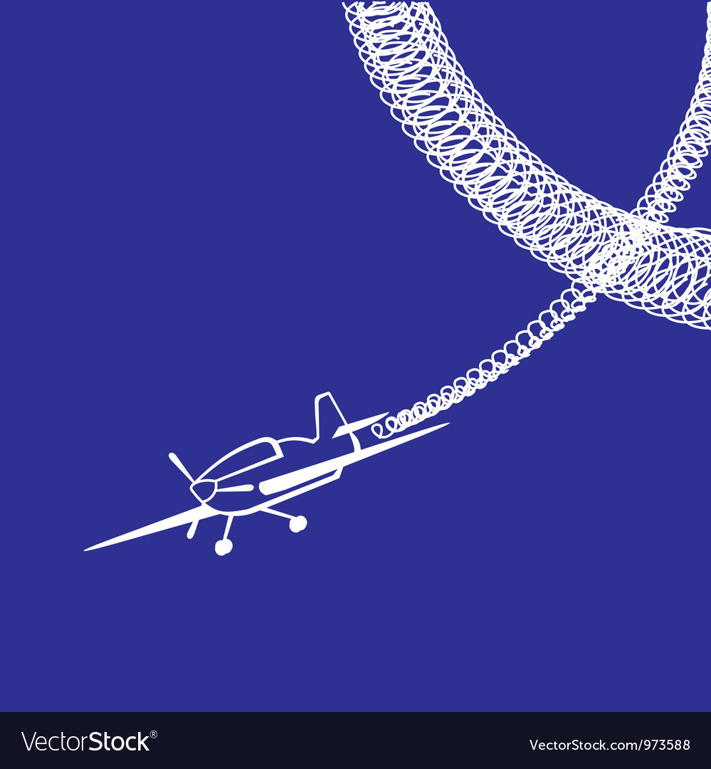 Plane over blue vector