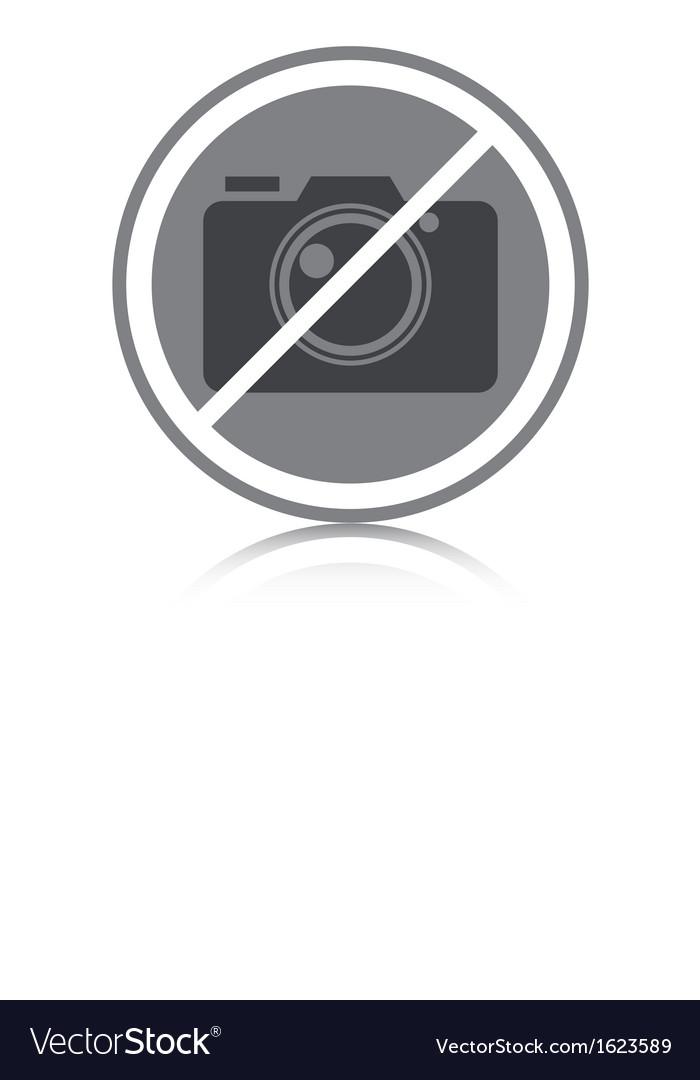 No photography allowed vector