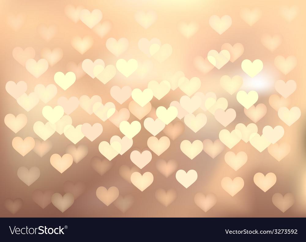 Pastel festive lights in heart shape background vector