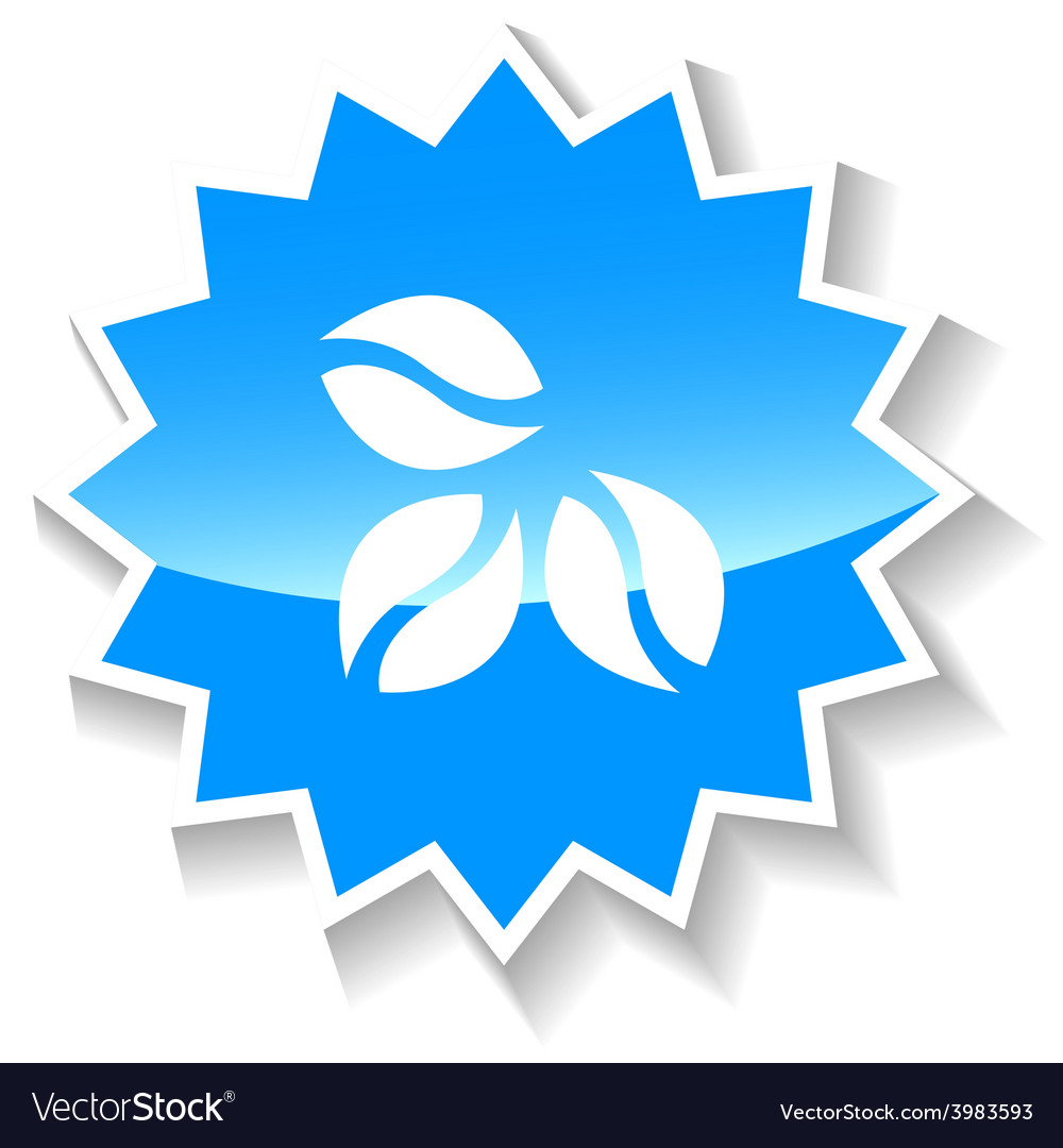 Coffe grain blue icon vector