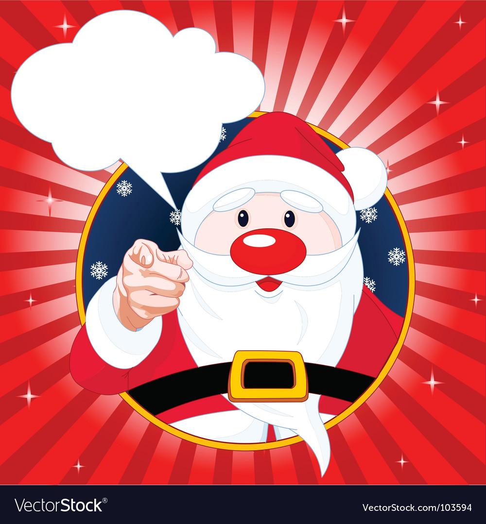 Santa claus pointing vector