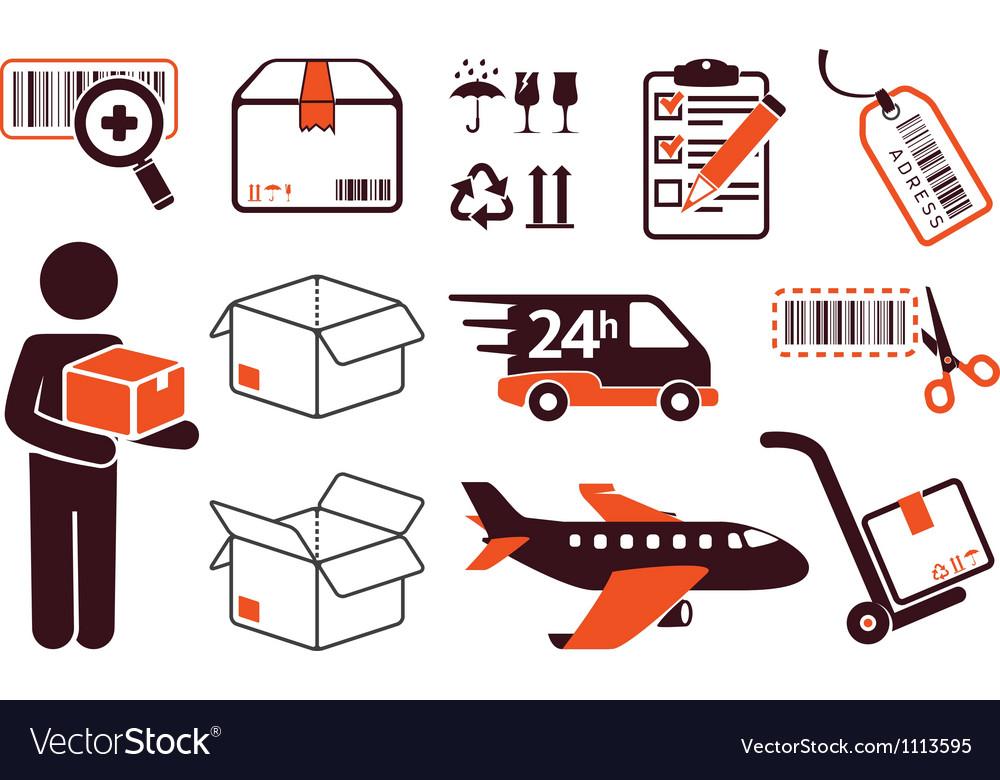 Postage set vector