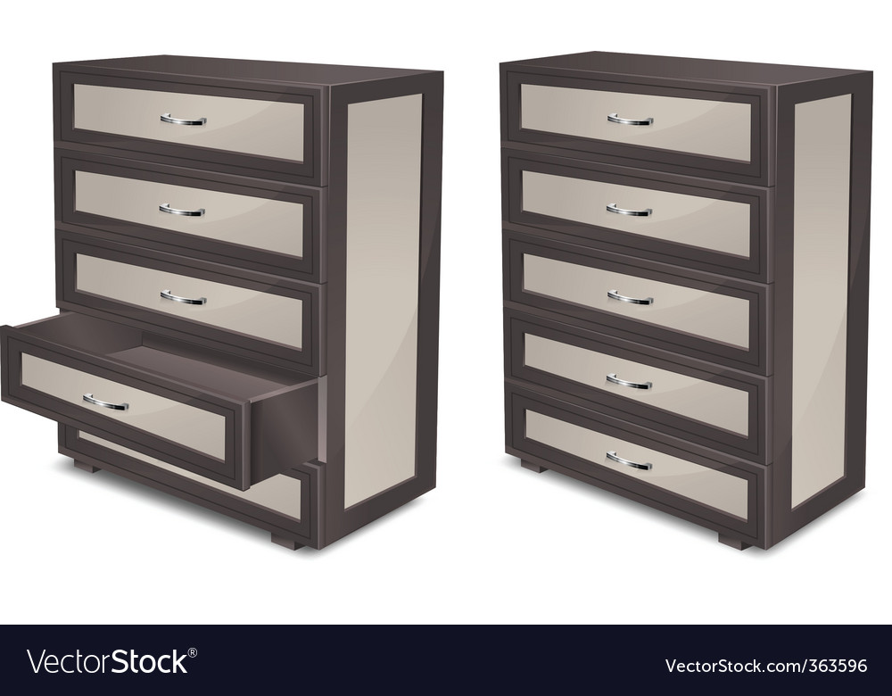 Wooden commode vector
