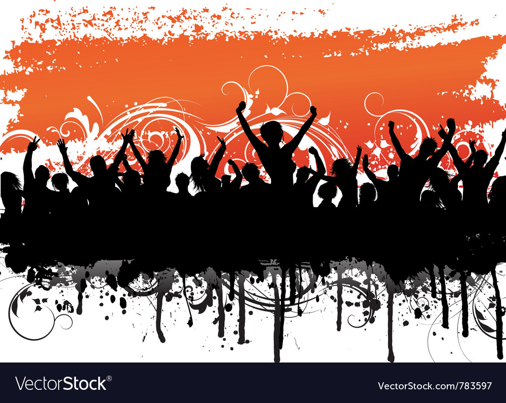 Grunge background audience vector