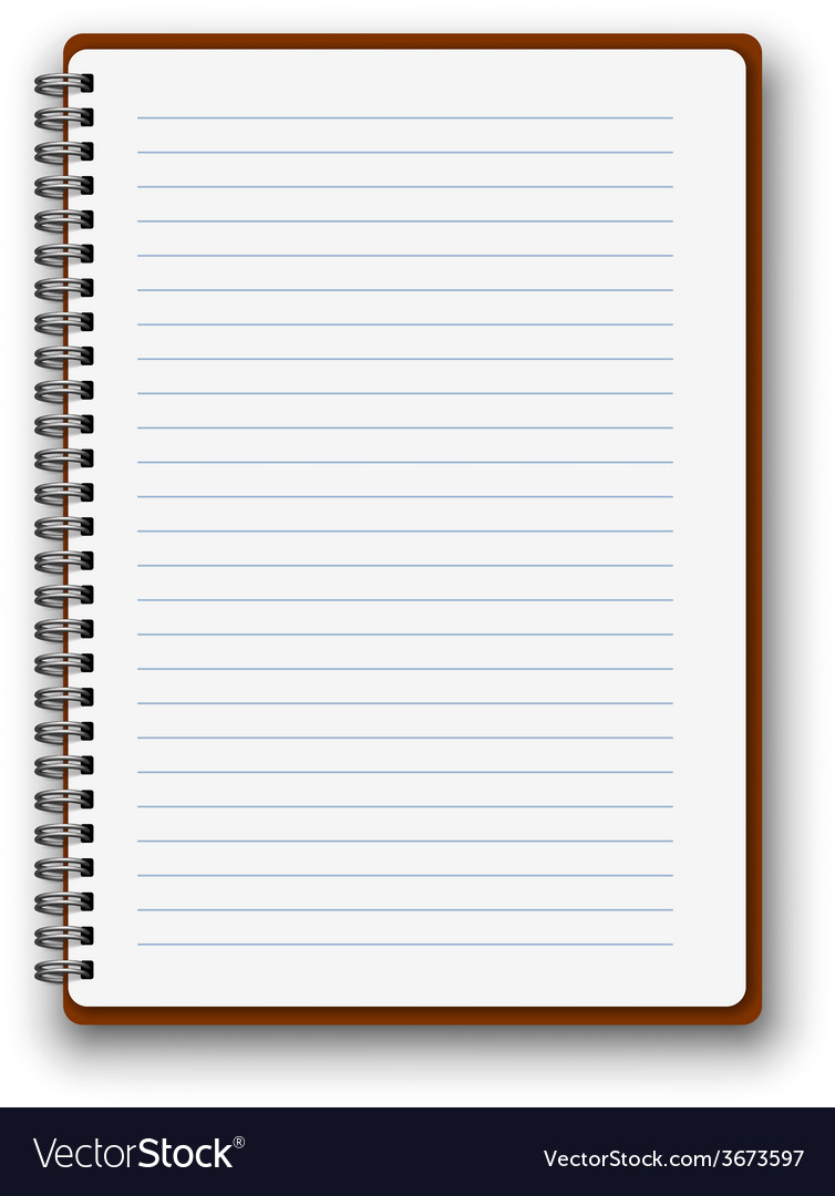 Vertical notebook vector