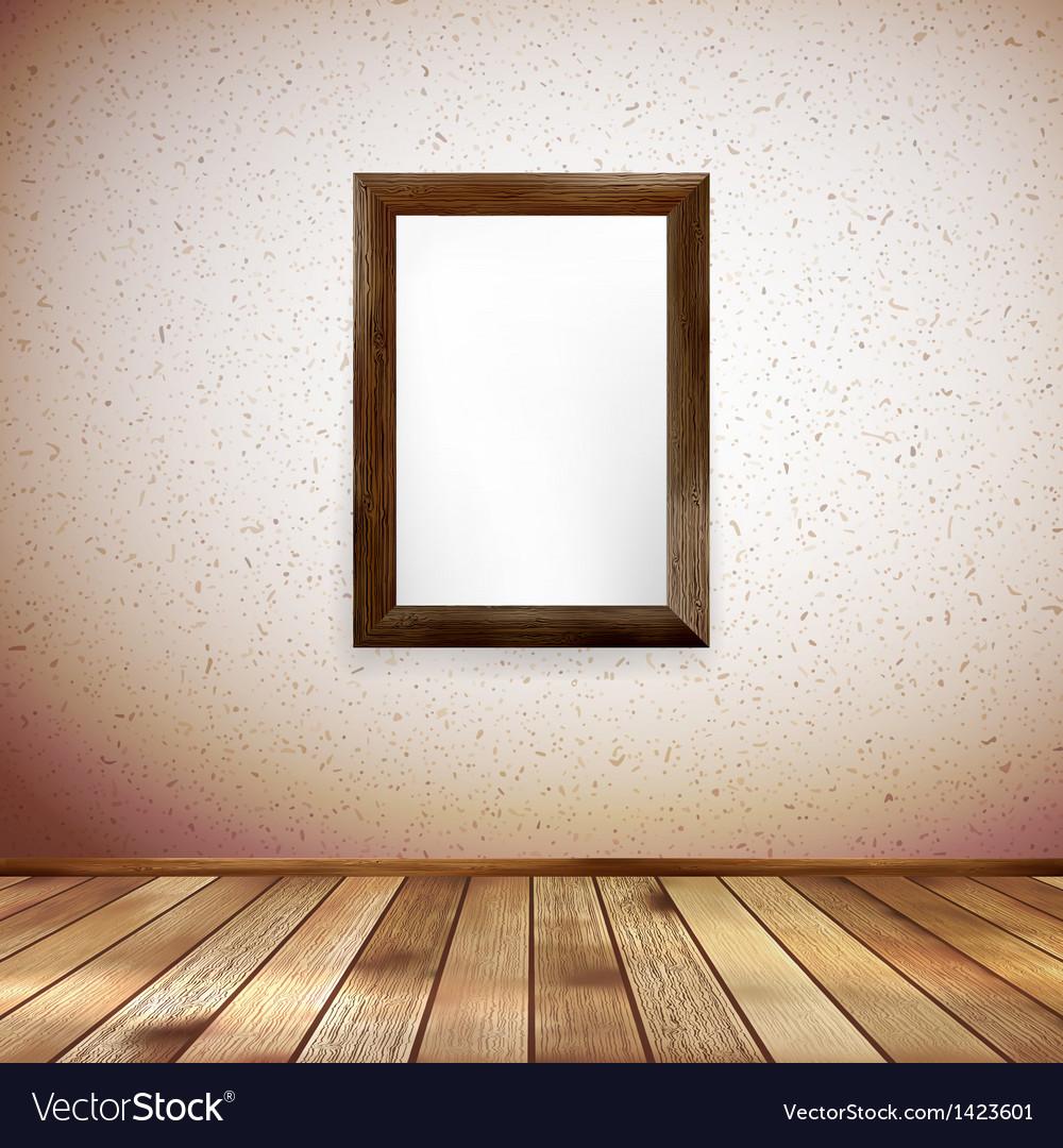 Wooden rectangular 3d photo frame eps 10 vector