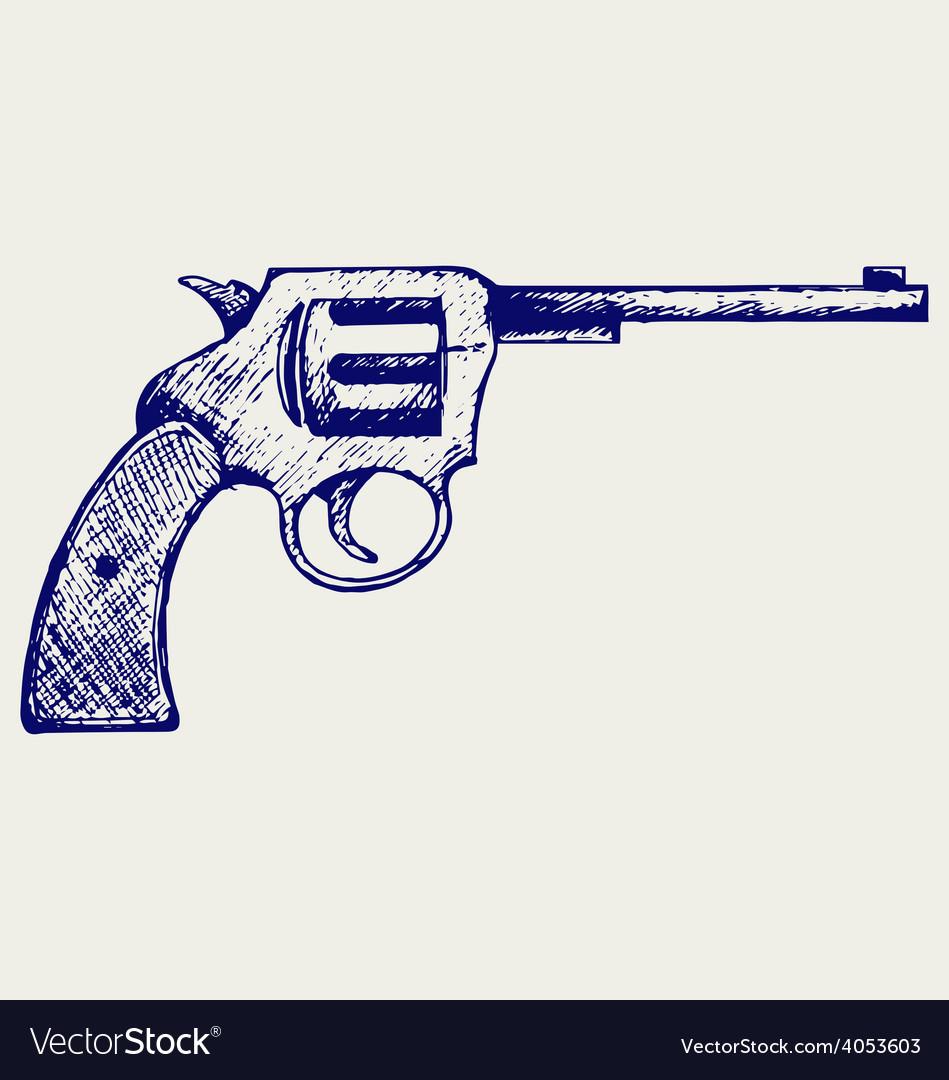Old pistol vector