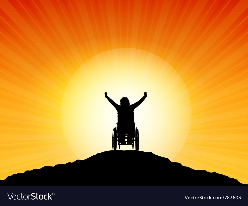 Wheelchair success vector