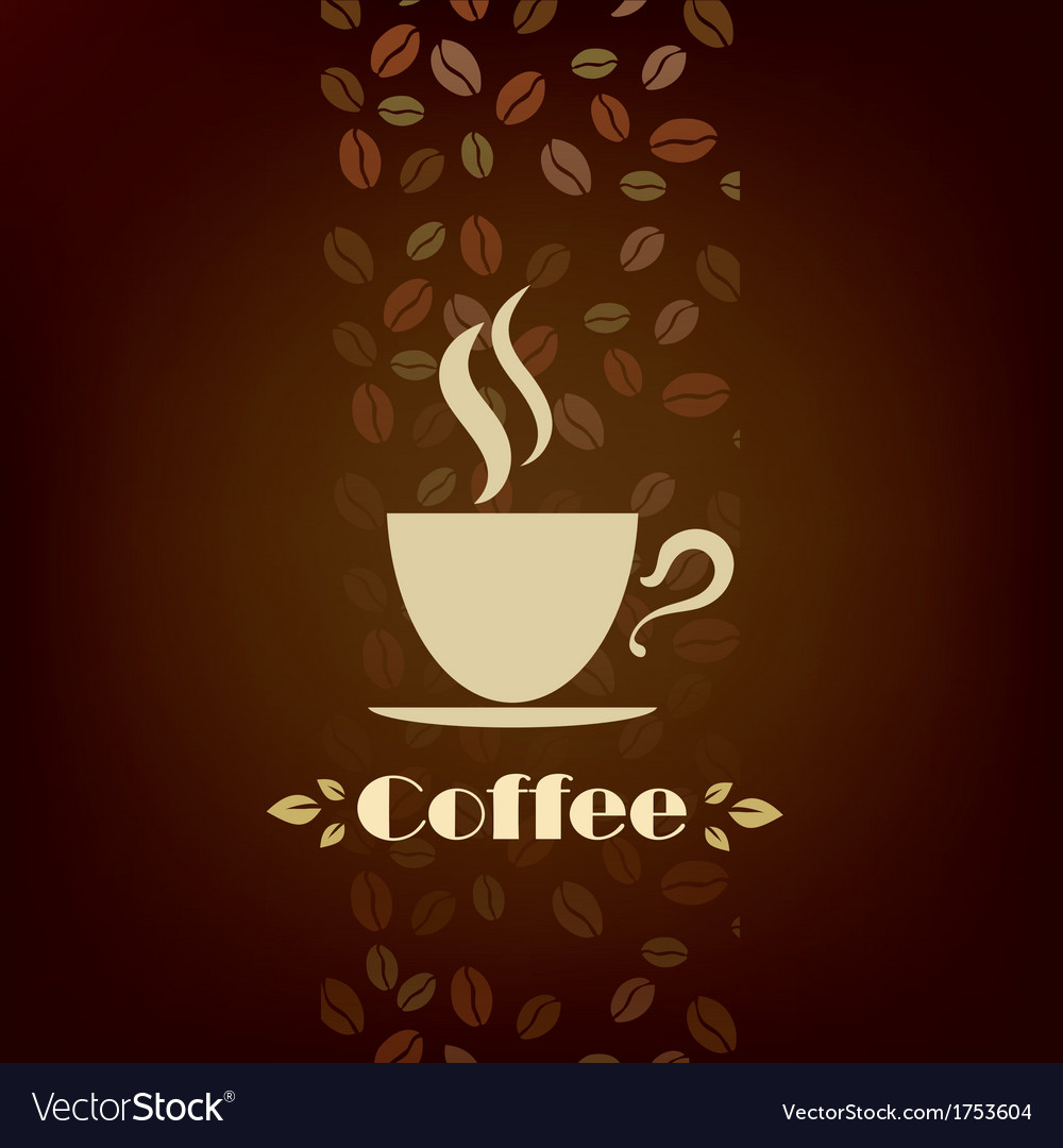 Coffee cup background menu template vector