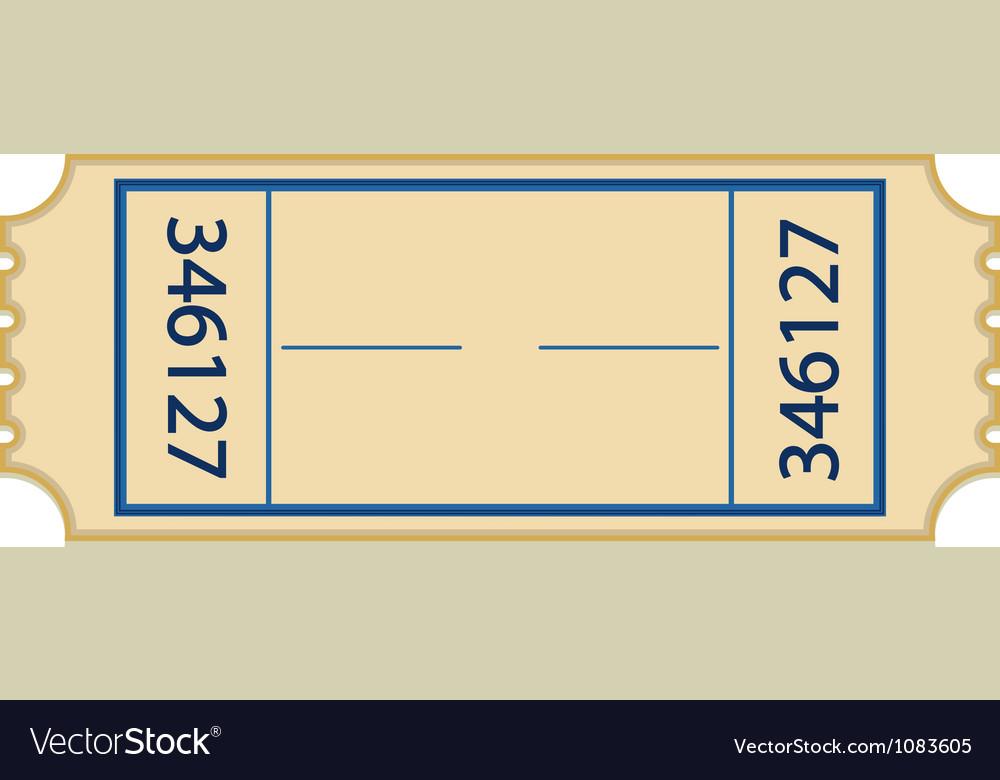Paper ticket vector