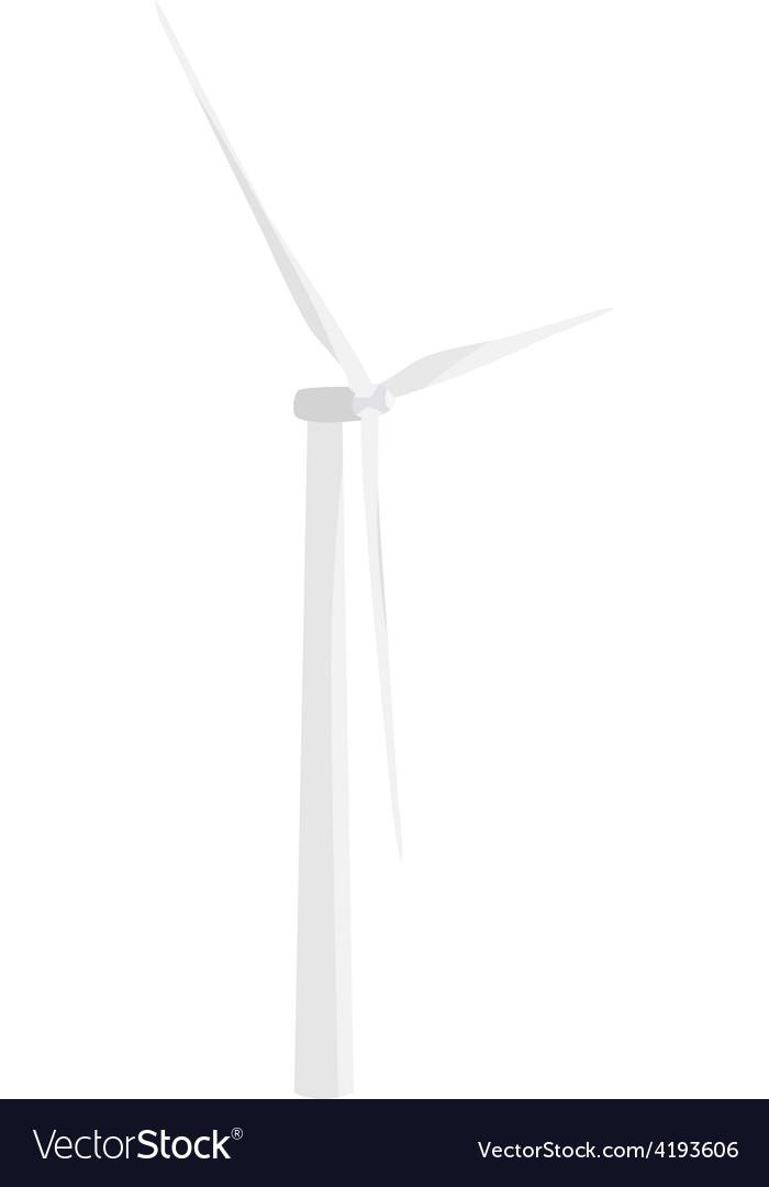 White wind turbine vector