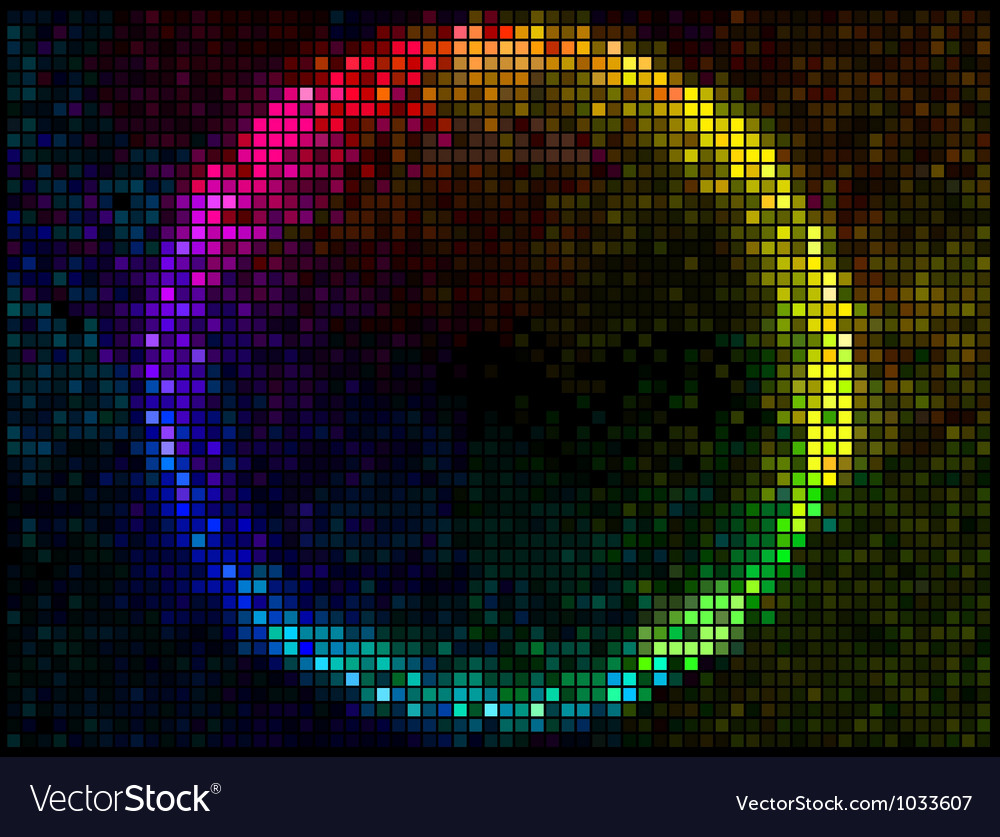 Disco club background vector
