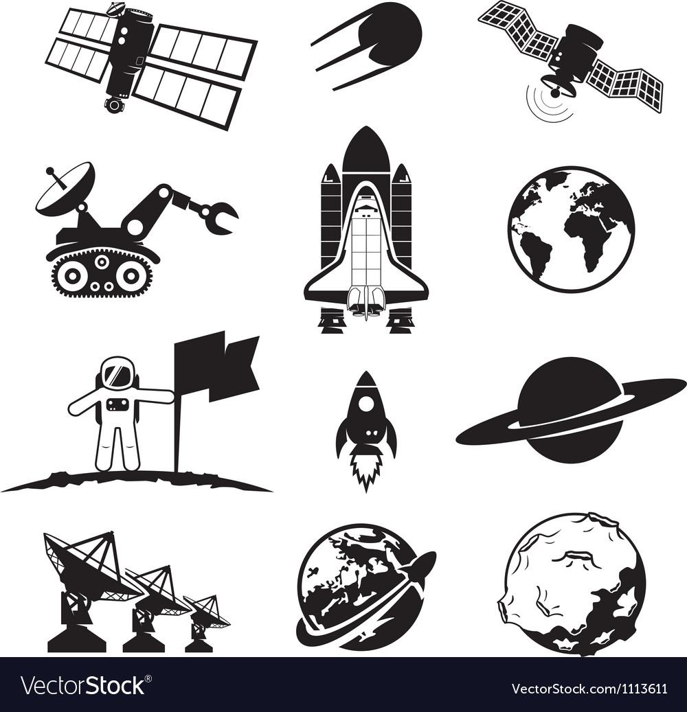 Space programme set vector