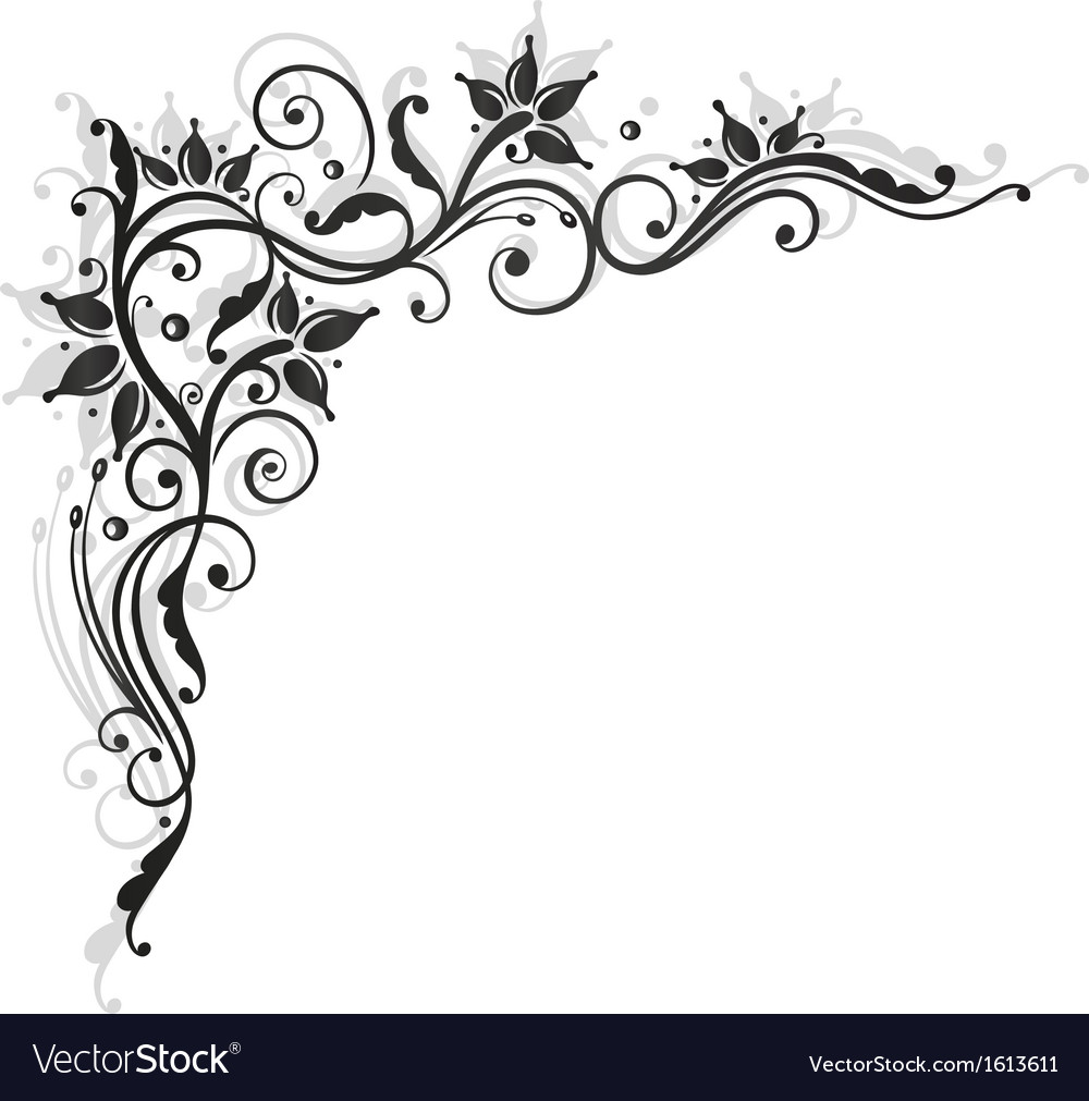 Tendril black art vector