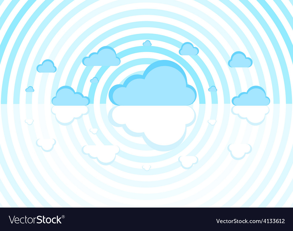 Blue clouds on a white background vector