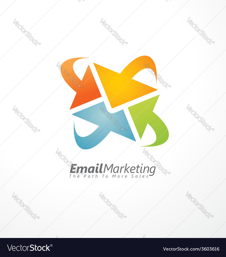 Email marketing creative design concept vector