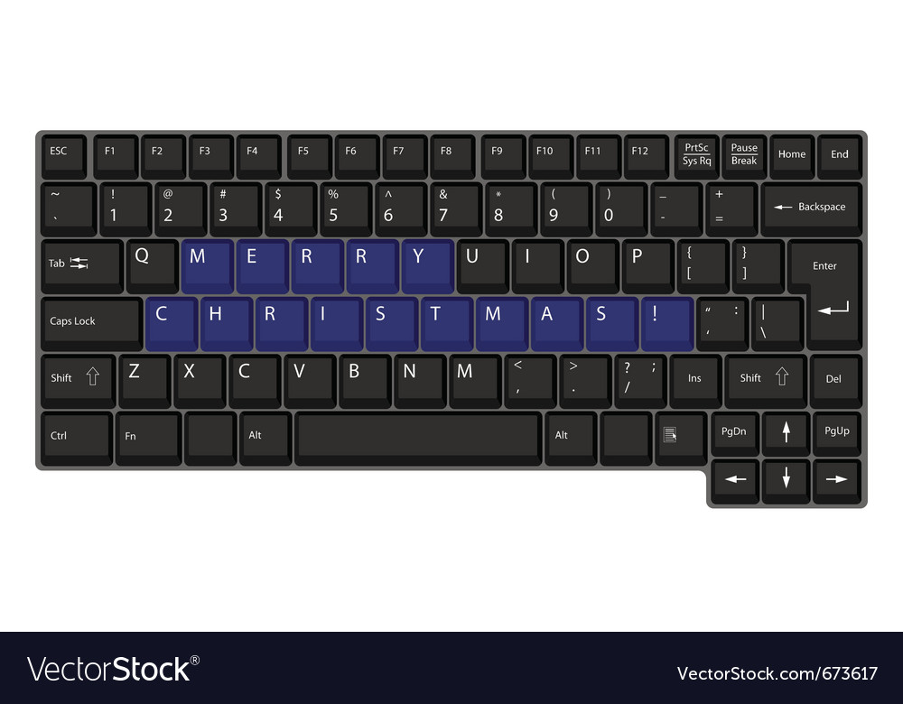 Black laptop keyboard vector