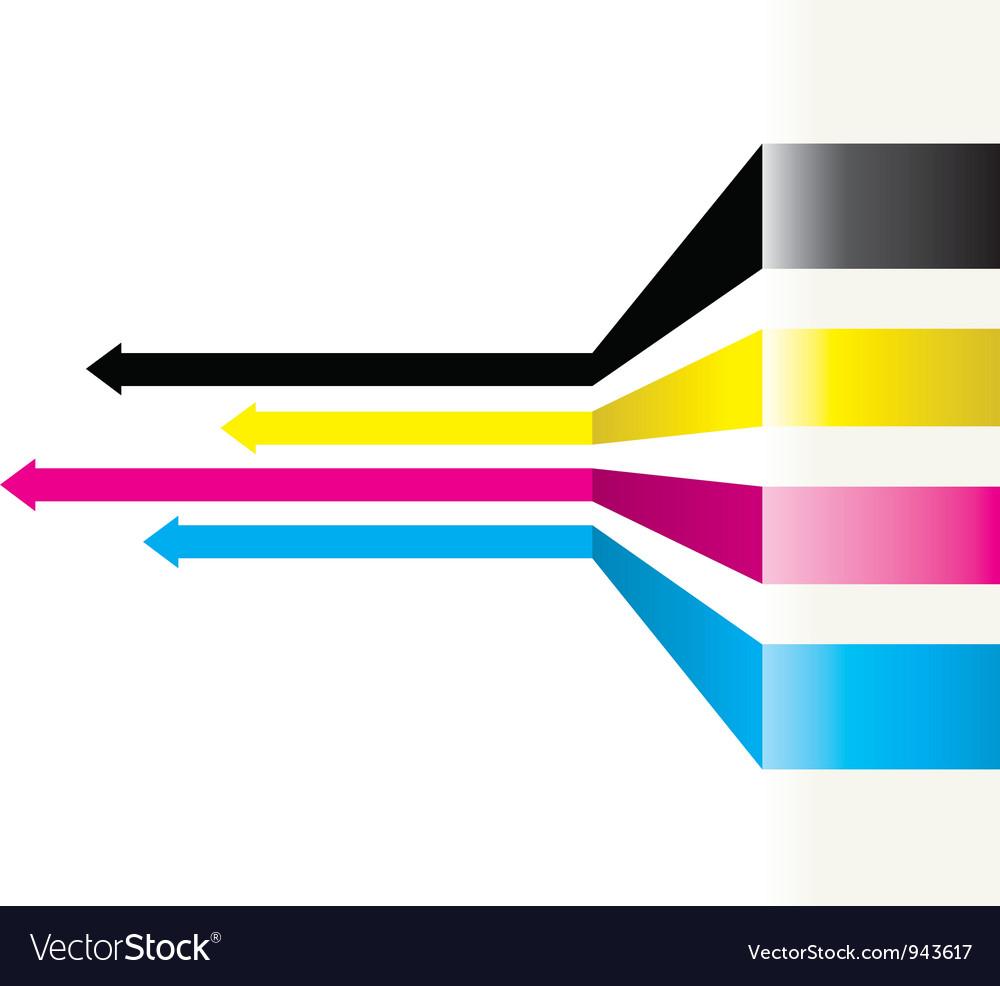 Cmyk arrows vector