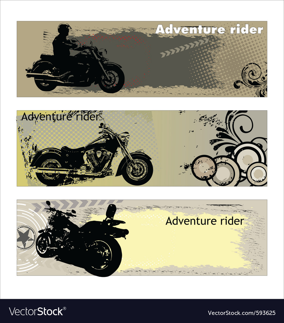 Adventure rider vector