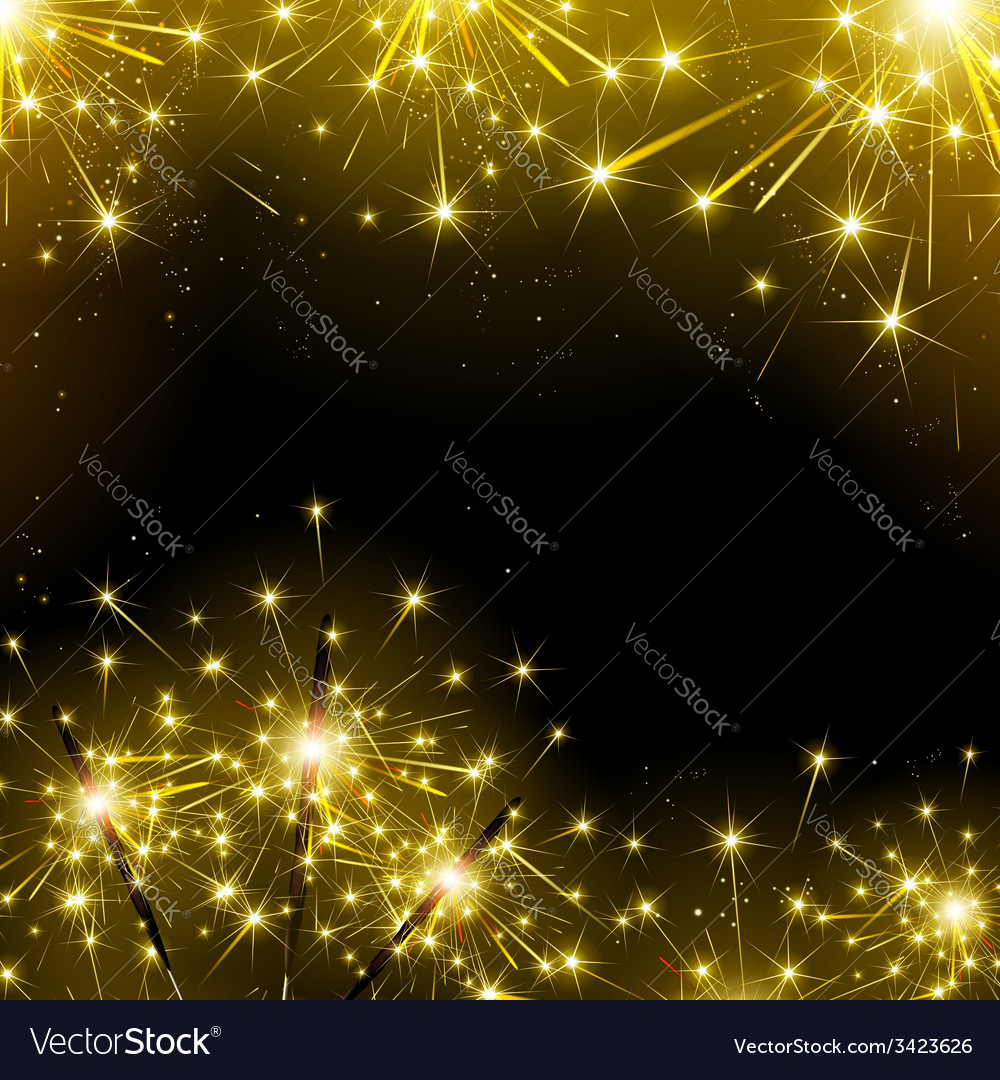 Sparklers and fireworks vector