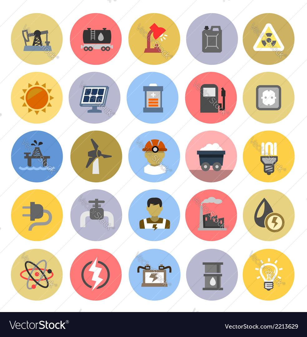 Energy icons vector