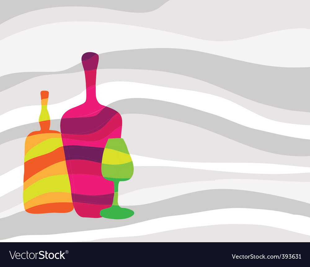 Wine and alcohol background vector