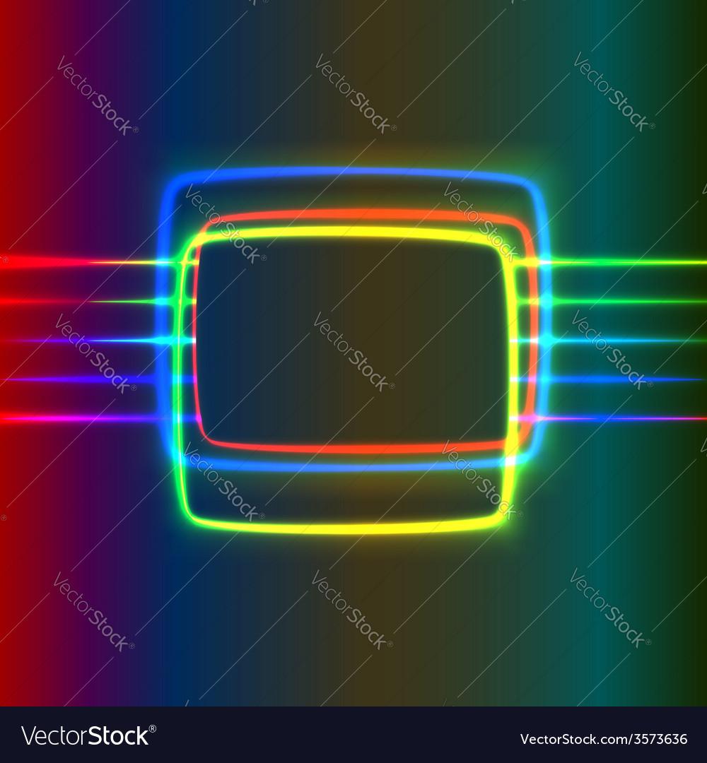 Neon screen vector