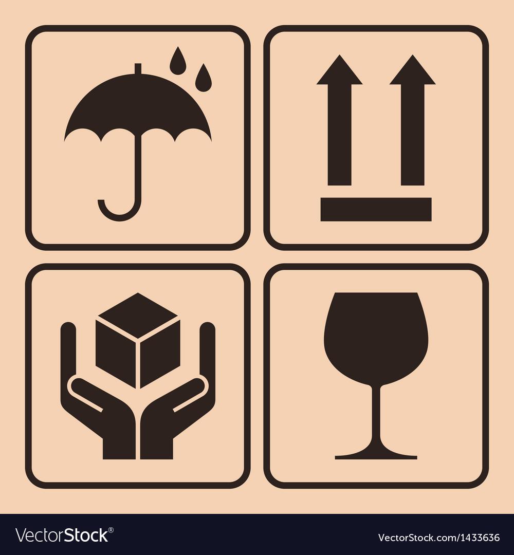 Packaging symbols vector