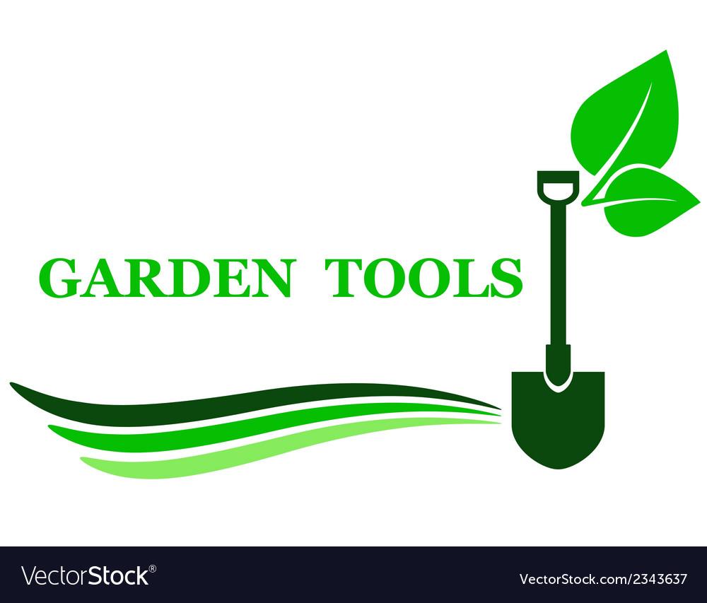 Garden tool background vector