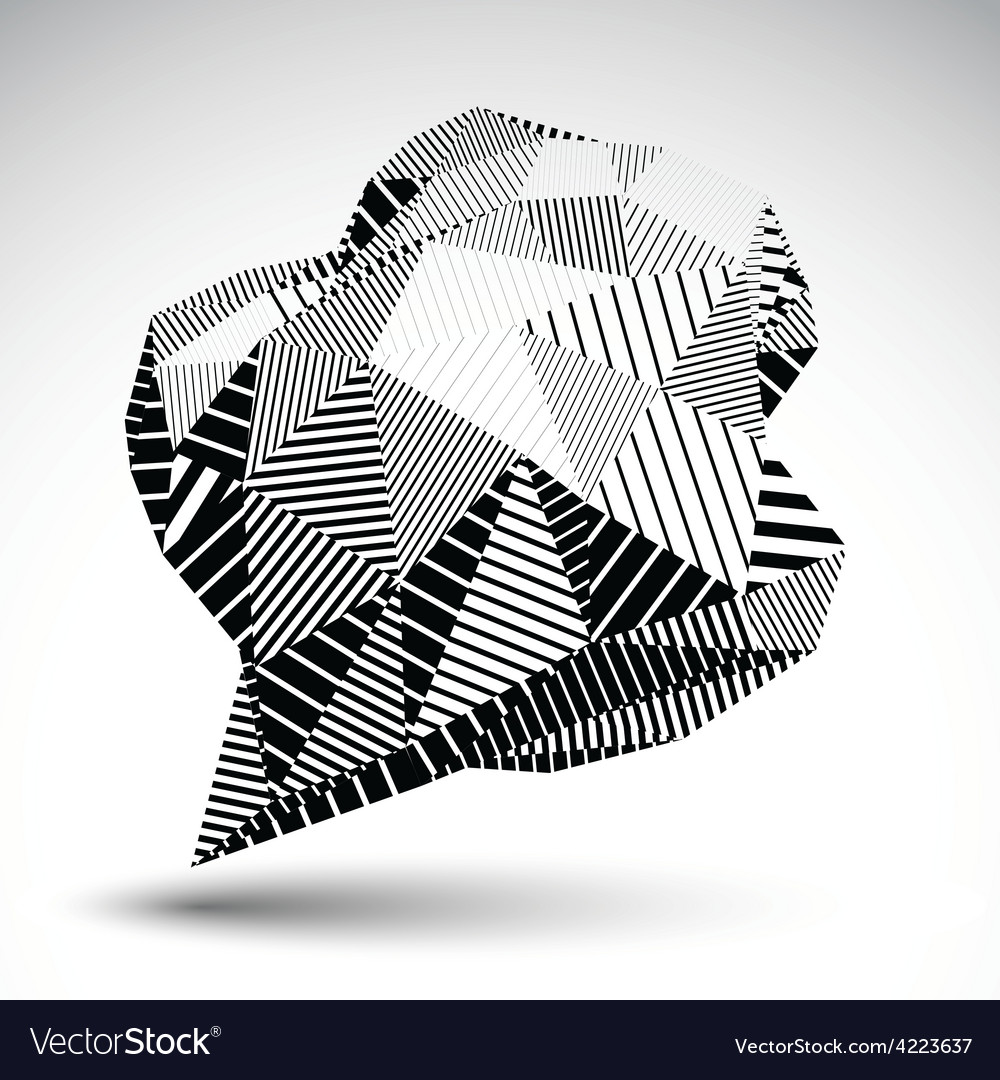 Stylish asymmetric contrast figure with parallel vector