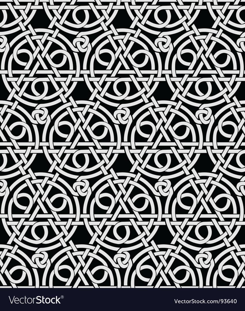 Celtic ornament background vector