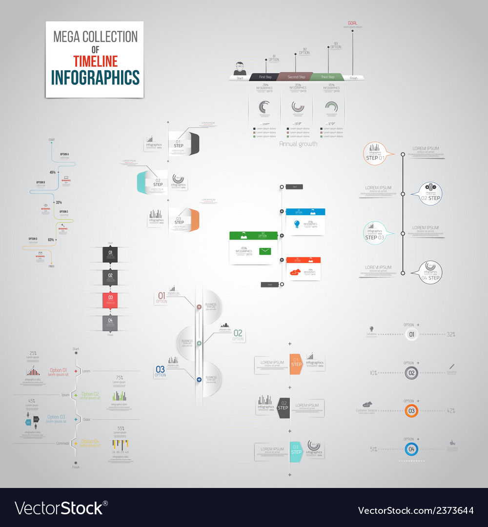 Infographics mega collection 2 vector
