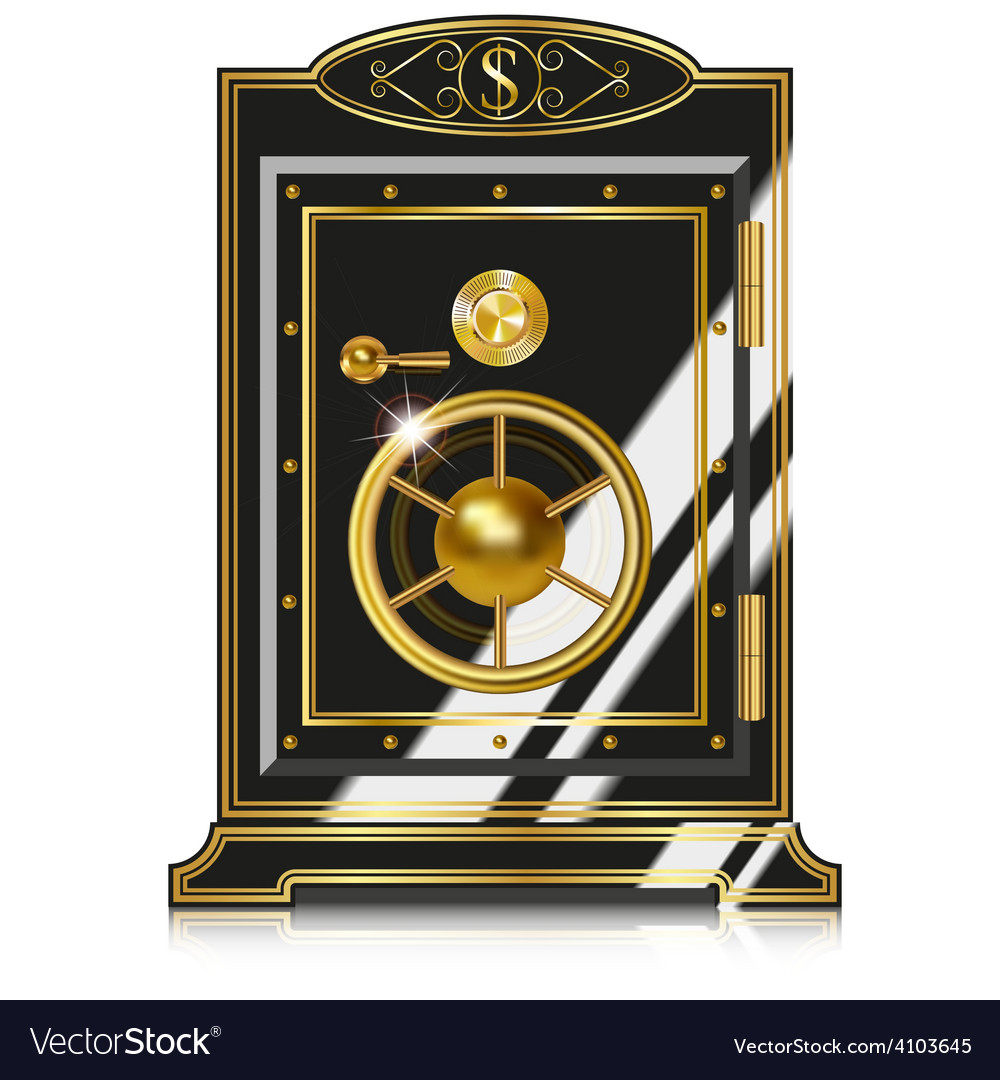 Antique safe vector