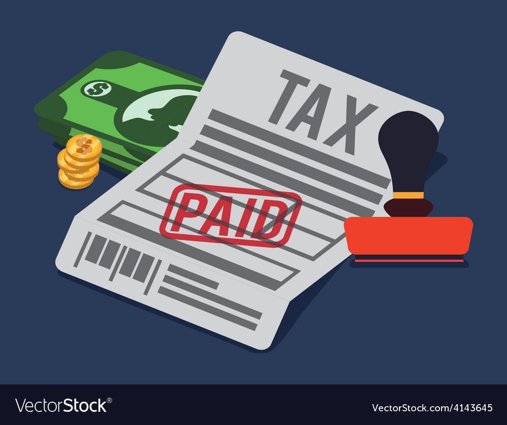 Taxes design vector