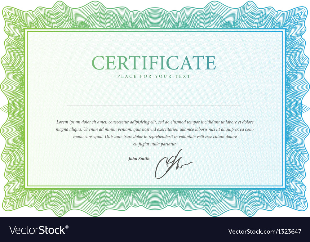 Certificate pattern that is used in currency and vector