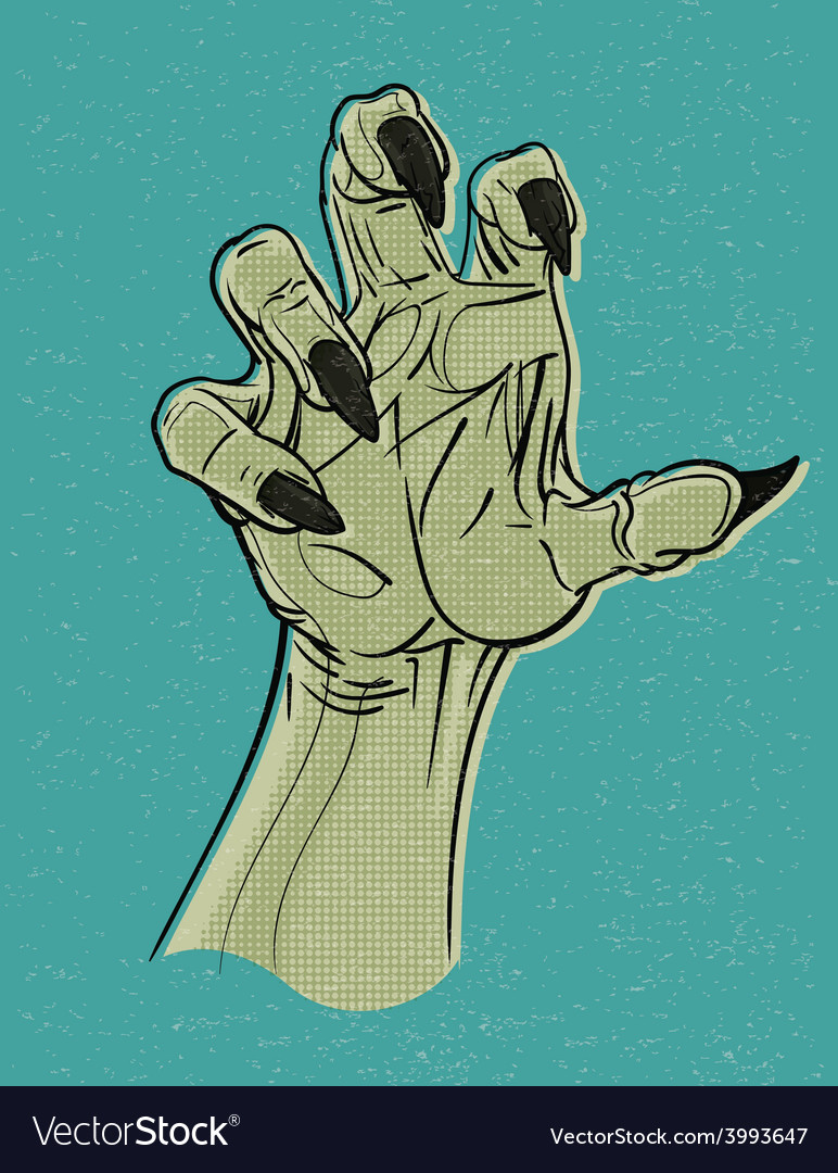 Ghoul hand vector