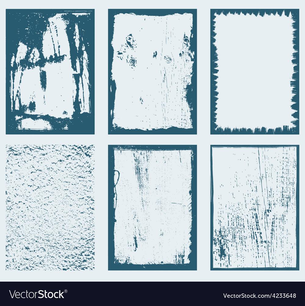 Grunge frames textures 1 vector