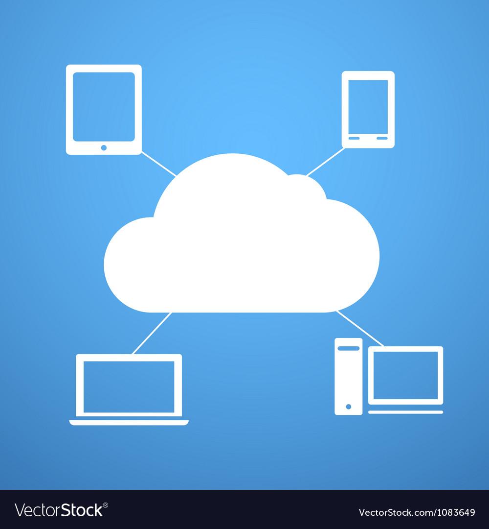 Cloud technology abstract scheme vector